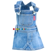 Doggydolly Hundekleid Latzrock Blue Jeans hell