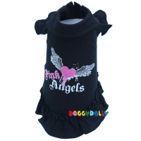 Doggydolly Hundekleid Pink Angel schwarz