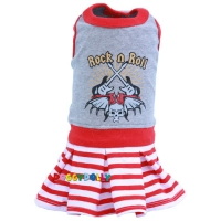 Doggydolly Hundekleid Rock\'n Roll rot