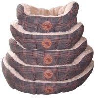 Country Pet Luxury Tweed Hundebett 50x40cm