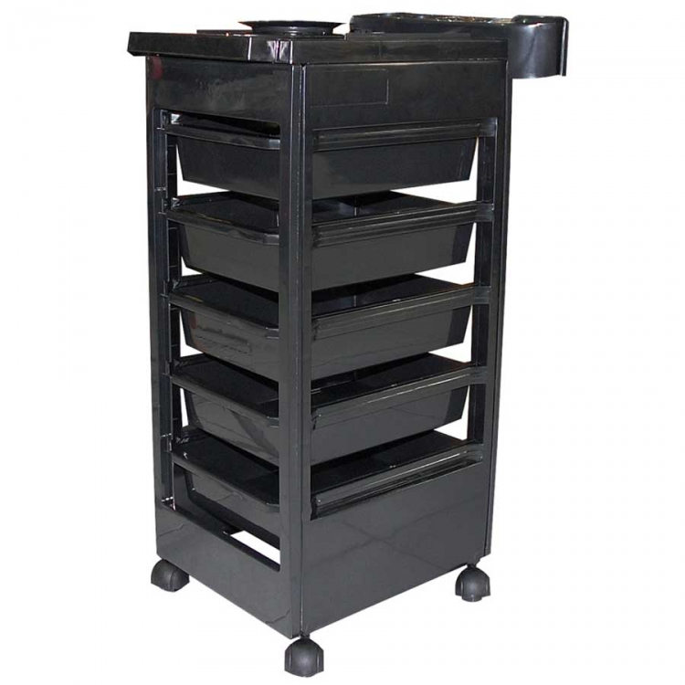 beistelltisch f r groomerzubeh r auf rollen schwarz. Black Bedroom Furniture Sets. Home Design Ideas