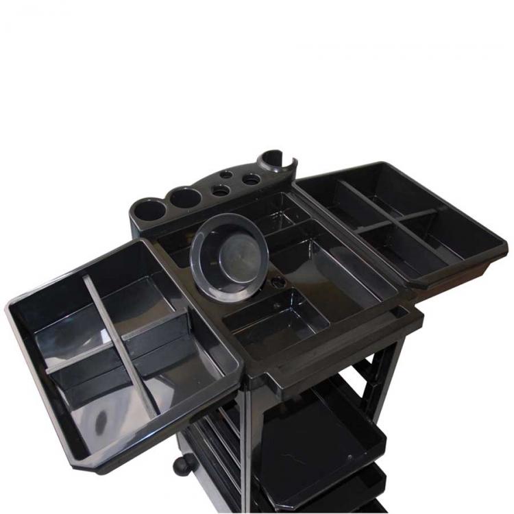 beistelltisch f r groomerzubeh r auf rollen schwarz 32x39x90. Black Bedroom Furniture Sets. Home Design Ideas