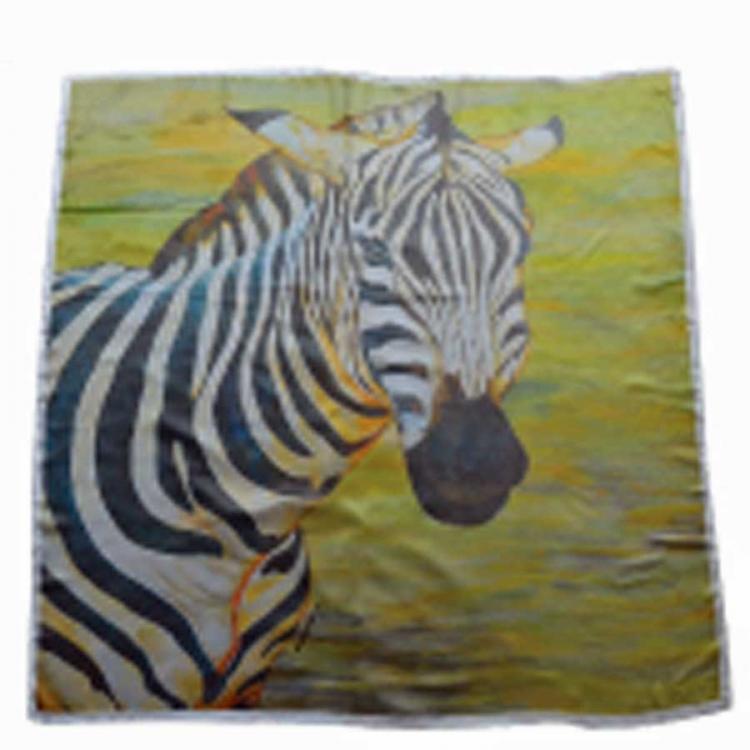 zebra print on scarf widht 100 cm length 100 cm lc011 e. Black Bedroom Furniture Sets. Home Design Ideas